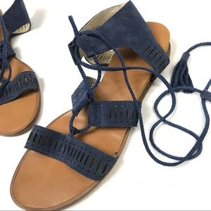 Caslon Shoes - Caslon Lace Up Suede Blue Sandals Sz 8.5